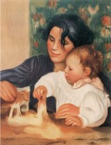 Painting by Pierre-Auguste Renoir of Gabrielle Renard and infant son, Jean